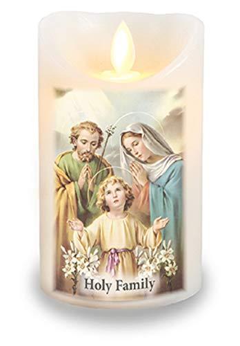 Heilige familie Wax Gecoat Led Kaars met Timer en Realistische Flickering Flame Gebed Kaars