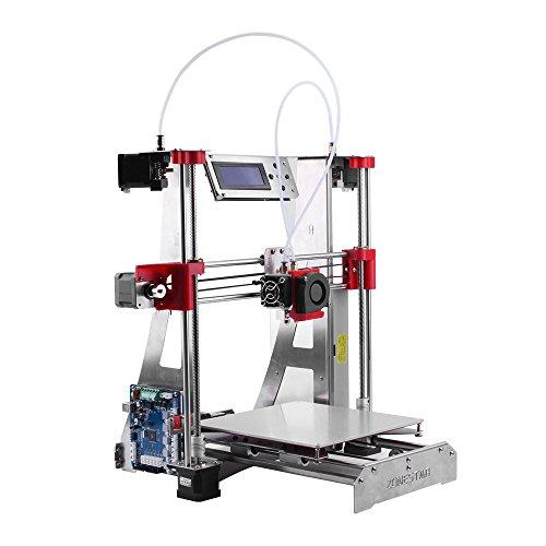 ZONESTAR P802QR2 i3 Métal FDM Imprimante 3D Kit DIY Extrudeuse double couleur Nivellement automatique Taille d'impression 220 * 220 * 240mm Haute précision w / Heatbed +0.5kg 1.75mm Filament PLA Blanc