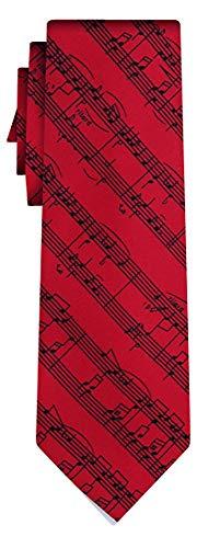 Desconocido corbata musical notes on red