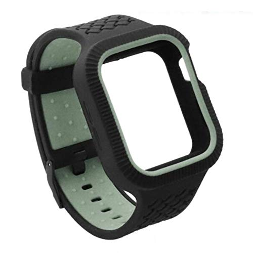 Sports Band Case Cover for Apple Watch Case Series 5 4 Silicone Band 44mm 40mm Apple watch 5 4 strap band Strap Shockproof Frame