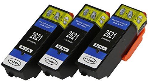 3 XL Druckerpatronen nur Black mit CHIP und Füllstandanzeige für Epson Expression Premium XP510, XP520, XP600, XP605, XP610, XP615, XP620, XP625, XP700, XP710, XP720, XP800, XP810, XP820