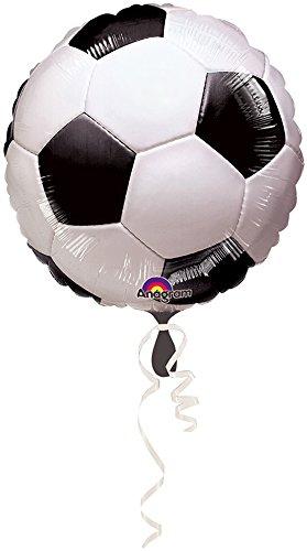 Amscan 1 Ballon Mylar Ballon de Foot 45 cm - Taille Unique