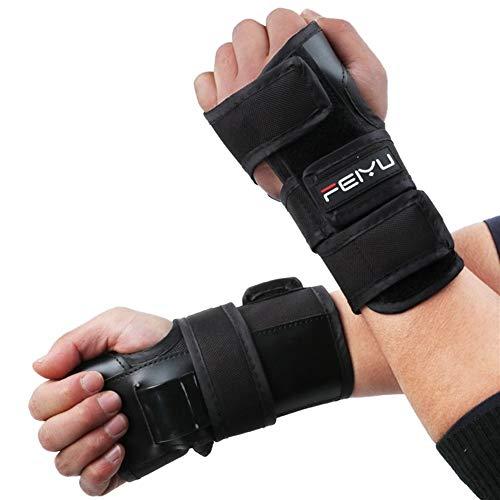 RZDJ Handgelenkschutz Unterstützung Palm Pads Schutz for Skating-Ski Snowboard-Rollen-Derby-Schutzausrüstung Schutz Kinder Männer Frauen S-XL (Size : L)