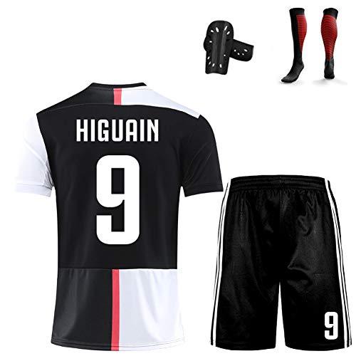 CBVB Jungen Fußball Trainingsanzüge Kinder, Higuaín Dybala, 19-20 Training in der neuen Saison, Kinderuniformen, Fußballuniformen-black9-120