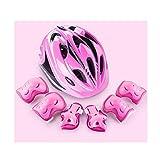 LIYOUPIN Skateboard Helmset Kid Ellbogenschoner Handgelenkschützer Protektoren Set für Skateboard Rad Fahren, Reiten Radfahren und Multi Sport, (Kinder, Rosa),Rosa