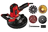 Einhell TE-DW 180 Wall and Concrete Sander (1300W, 0-3000min.-1 oscillation rate, 180mm sandpaper Ø, including micro Velcro sanding disc, diamond wheel, 6 sanding discs)