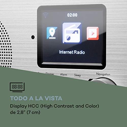 auna Silver Star Mini Radio con Internet y Bluetooth - Dab+/FM , Wi-fi , USB ,...