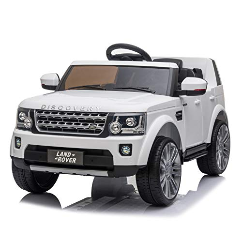 FORESEE Ride On Car with Remote Control 12V Electric Cars for Kids Motorized Vehicles, Rechargeable Motor Electric Vehicle, Spring Suspension, USB,MP3 Player,Led Headlight. (White)