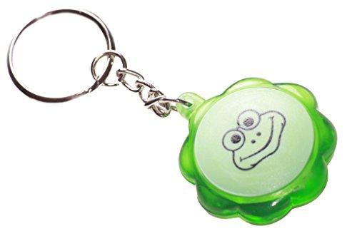 Fun, Strambo & Playful–verde rana premere il pulsante centrale/light Key Chain (ZX1/219)