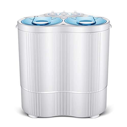 QHGao Draagbare wasmachine, dubbele badkuip en droger, compact en duurzaam ontwerp voor thuis, universiteit, camping, wasmachine met meerdere functies (2 stuks)