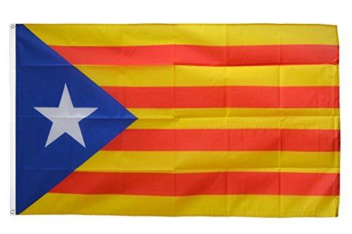 Flaggenfritze Fahne/Flagge Estelada blava Katalonien + gratis Sticker