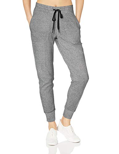 Amazon Essentials Women's Studio Terry Relaxed-Fit Jogger Pant, Grey Marl, XS