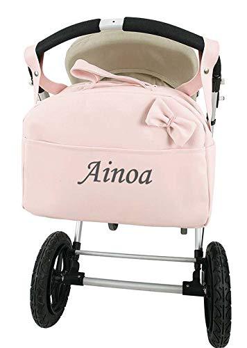 Bolso Carrito Bebe Polipiel Personalizado con nombre bordado