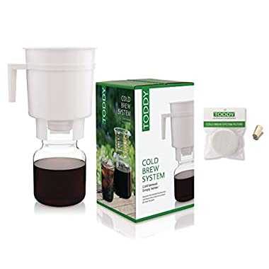 Toddy Cold Brew Coffee Maker System with 2 Extra Filters and Rubber Stopper
