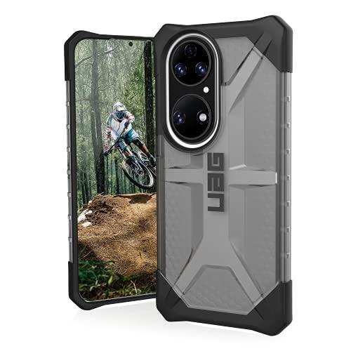 Urban Armor Gear Plasma Funda Protectora Huawei P50 Pro Funda [Wireless Charging Compatible, Resistente Las caídas según el estándar Militar, Protección del Borde Elevado] Ash (Gris Transparente)
