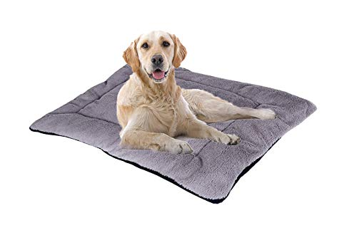 M.Q.L. Dog Cage Mat, Kennel Crate Cushion for dog, Pet Cushion, Dark Gray Stain Resistant Cage Pad.