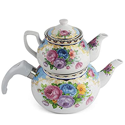 2.5L enamel kettle, thickened teapot, coffee pot, enamel tea pot, Turkish master pot
