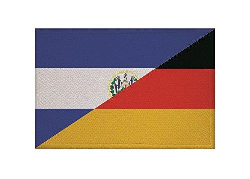 U24 Aufnäher EL Salvador-Deutschland Fahne Flagge Aufbügler Patch 9 x 6 cm