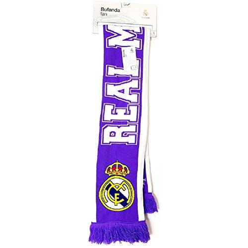 Real Madrid- Bufanda Futbol, Multicolor, Talla Única (8.43545E+12)