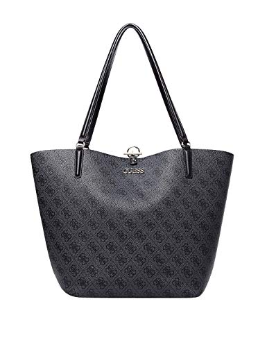 Guess Alby Toggle Tote Coal