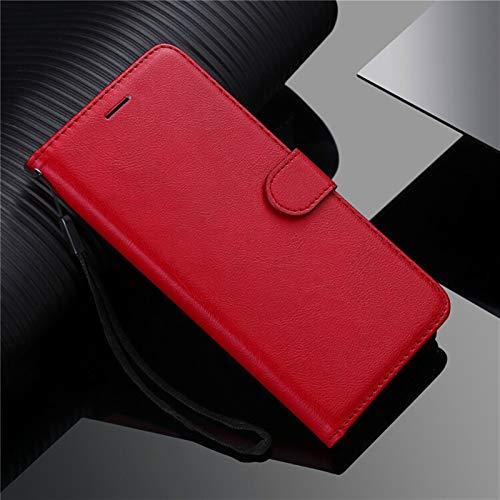 kuaijiexiaopu Fundas Para LG G7 G8S Thinq G9 Q6 V40 V50 V60, cubierta de la cartera de cuero de lujo Flip Stand Cover para LG W30 Stylo 6 x Power 2 3 ( Color : Rojo , Material : For LG G8X (ThinQ) )