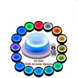 Acmee (Pack of 1) Remote Control LED Under Table 16 Colors Change Wedding Decoration Light, for Parties, Events, Birthdays,RGB Super Bright lamp with 4000 mAh Rechargable Lithium Battery
