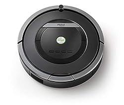 iRobot Roomba 871 Saugroboter, verfilzungsfreie Gummibürsten, hohe Saugkraft, Optimal für Teppiche, Hartböden und Tierhaare, Dirt Detect, 3-stufiges Reinigungssystem, Reinigungsprogrammierung per App