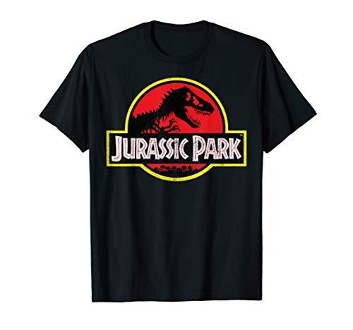 Jurassic Park Distressed Vintage Logo Graphic T-Shirt