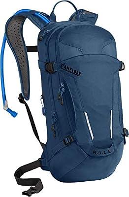 M.U.L.E. Mountain Biking Hydration Pack - Easy Refilling Hydration Backpack - Magnetic Tube Trap - 100 oz., Gibraltar Navy