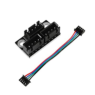 Aokin 3D Printer Parts and Accessories, 1pcs 3D Printer Stepper Motor Parallel Module with 100mm Cables for Double Z Axis Dual Z Stepping Motors Reprap Prusa Lerdge 3D Printer Board