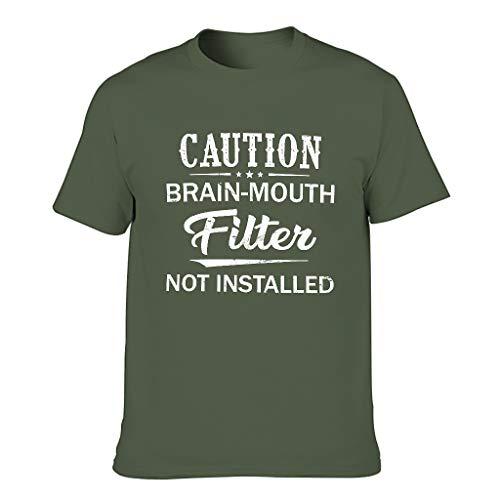 Camiseta humorística para hombre verde militar XL