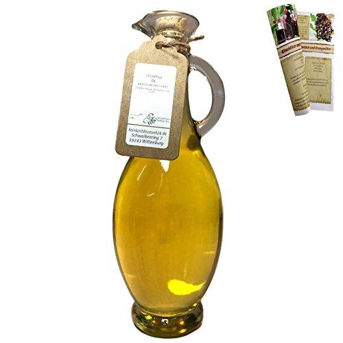 Steinpilz Öl | 500 ml Ölflasche - Rapsöl aromatisiert | aus Deutschland | mit Rezeptbroschüre