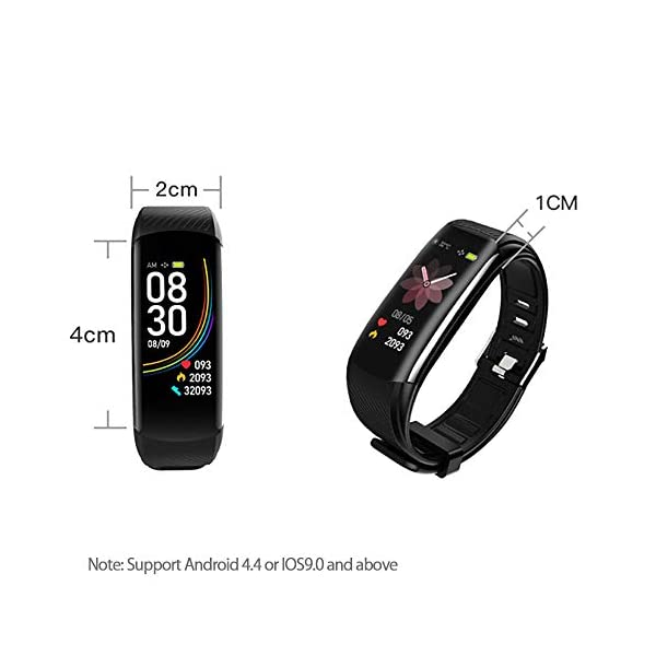 PYBBO Monitor de fitness con temperatura corporal y presión arterial, oxígeno y frecuencia cardíaca, monitor de sueño… 9