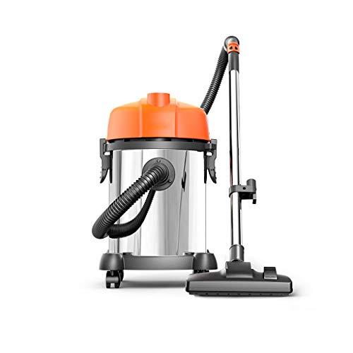 Huishoudelijke stofzuiger, draagbare stofzuiger, droog en vochtig en blazer, sterke zuigkracht van 1200 W, gemakkelijk op te bergen, veilige zwemtechnologie, meervoudige filtratie, roestvrijstalen vat (oranje)