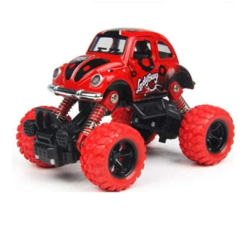 Alloy Toy Car 4-wheel Drive Pull Back Off-road Vehicle Children's Mountain Bike Toy Inertial Door Openable Anti-fall Boy Toy Car Gift (Color : Yellow) BJY969 ( Color : Red )