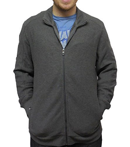 Calvin Klein Men's Lifestyle Full Zip Sportswear Sweater (Medium, Heather Grey)