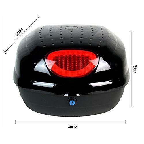 YMhbx Baúl de Moto Maleta para Motos Scooter topcase Guardar Casco Caso Motocicleta Equipaje con 2 Llaves,Quick Release(28L) 40x38x29cm