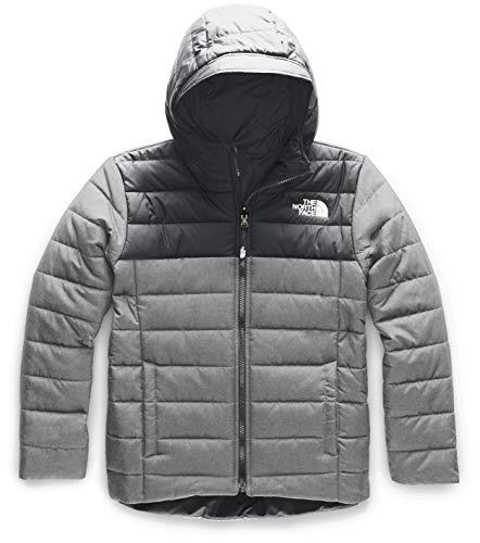 The North Face Little Kids/Big Kids Boys' Reversible Perrito Jacket, TNF Medium Grey Heather, Medium