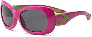 Real Kids - Breeze P2Niños Gafas de sol ajuste, flexible, tamaño 7+ rosa rosa/verde lima