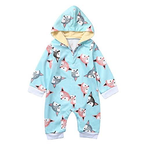 Overall für Kinder, Neugeborenes Baby Mädchen Winter Cartoon Kapuze Strampler Warm Coat Outwear