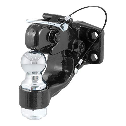 Lowest Prices! CURT 48180 Pintle Hitch with 1-7/8-Inch Trailer Ball, 16,000 lbs, Mount Required