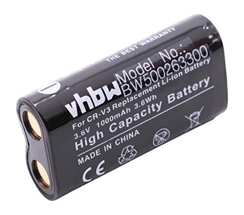 vhbw Akku passend für Pentax D-435 / K100D, DB100, DB200, Ist D, IST DL, IST DS, K110D Kamera Digicam DSLR (1000mAh, 3.6V, Li-Ion)