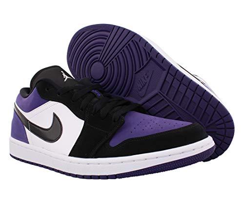 Jordan Air 1 Low (White/Black-Court Purple 9)