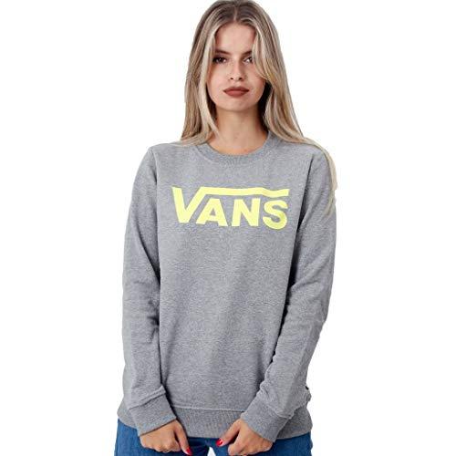 Vans Classic V Ft Crew Sudadera, Gris (Grey Heather GRH), 40 (Talla del Fabricante: Large) para Mujer