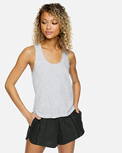 Hurley W Sandy Rib Tank Camiseta De Tirantes, Mujer, Grey Heather, M