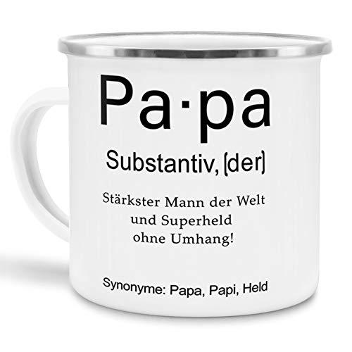 Tassendruck Emaille mit Definition Papa - Wörterbuch/Geschenk-Idee/Dictionary/Beruf/Job/Arbeit/Familie/Emaille groß
