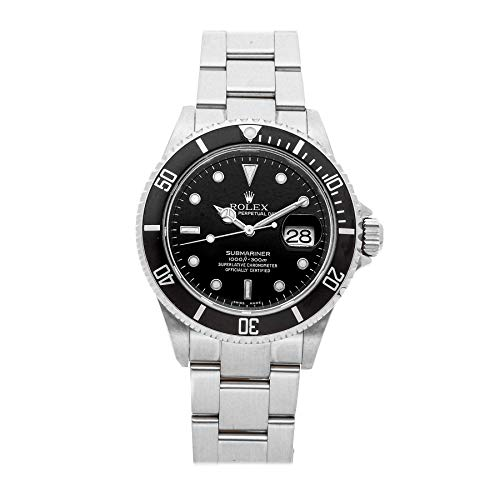 Rolex Submariner Mechanical (Automatic) Black Dial Mens Watch 16610 (Certified Pre-Owned)