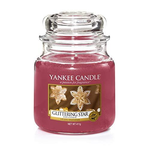 Yankee candle Jar Glittering Star Candela di Natale, Multicolore, Unica