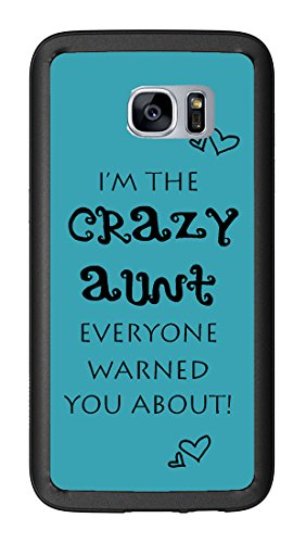 Crazy Aunt Turqouise for Samsung Galaxy S7 G930 Case Cover by Atomic Market