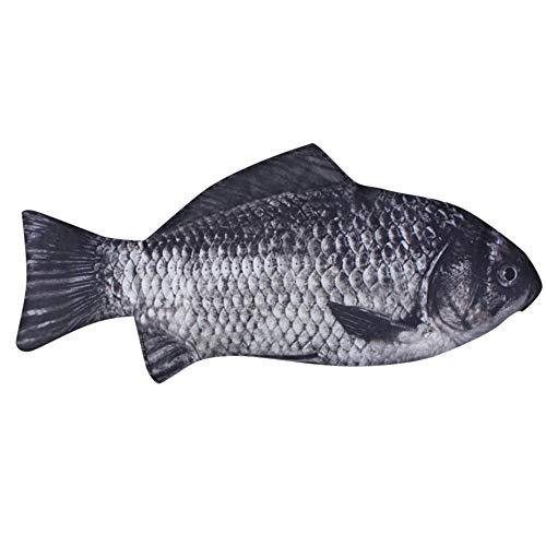 HWTOP Federmäppchen Simulation Karpfen Federbeutel Realistische Fisch Form Make-up Etui Stift mit Reißverschluss